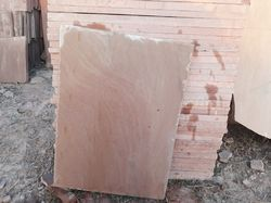 Natural Bansi Paharpur Pink Sandstone Slab, for Construction, Thickness: 15 to 80 mm