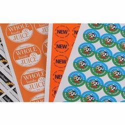 Vinyl Printed Sticker, Packaging Type: Roll