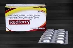 Ferrous Bisglycinate 60 mg,Folic Acid 1 mg,Zinc Bis Glycinate 15 mg & Methylcobalamin 500 mcg