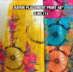Rayon Placement Print Fabric