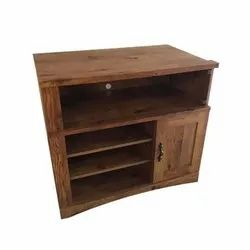 Brown Floor Mounted Wooden TV Stand, Size: 2.5 feet (Height)