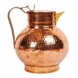 Copper Hammered Round Jug