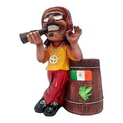 Man Playing Musical Instrument Showpiece Decorative Item