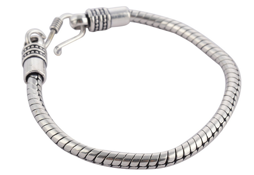 Men S Silver Metal Spiral Alloy Bracelet