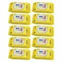 Order Link - Wippee 80n With Lid Baby Wipes With Almond Oil (white) - Pack Of 10