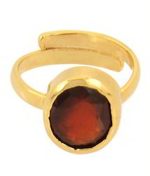 Hessonite Garnet Stone Ring