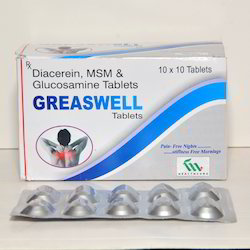 Diacerein MSM and Glucsamine Tablets