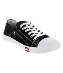 Feetzone Black Canvas Shoes