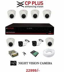 8 Ch CCTV Camera Set Up (2.4 Mp)