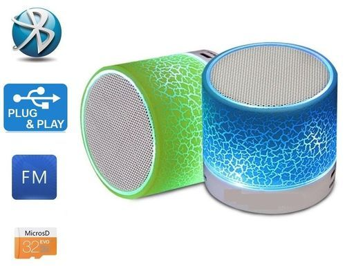 Round Led Portable Wireless Bluetooth Mini Speaker Size Small Rs