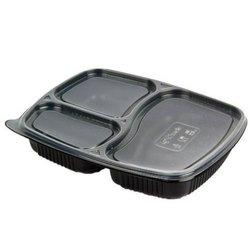 3 Compartment meal tray with lid