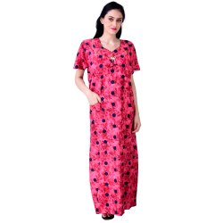 Cotton Printed Ladies Full Length Designer Nighty