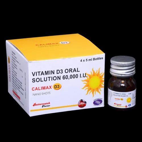 Vitamin D3 Nano Shorts 60000 I.U.Sugar Free