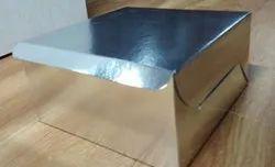 Silver Mat Cake Box