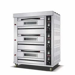 Stainless Steel Three Deck Electric Oven, 3, Capacity: 12 Tray