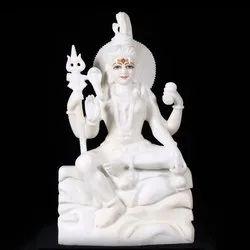 White Marble Shiv Shankar Statue