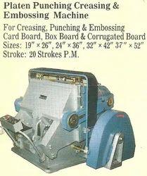 Platen Punching Creasing And Embossing Machine