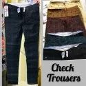 Casual Check Trousers For Men