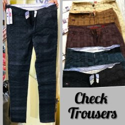 Check Trousers for Men