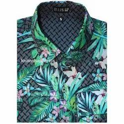 Collar Neck Formal Wear Men Cotton Causal Shirt, Size: S