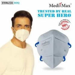 Medi-Max N95 BIS/ISI, DRDO Certified Face Mask Pro With Head Band Strap l Sterile Eol