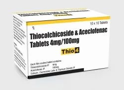 Aceclofenac and Thiocolchicoside Tablets 100mg/4mg