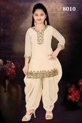 Hand Embroidered Girls Patiala Salwar Suit