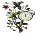 Bird bird Figure Iron wall Clock