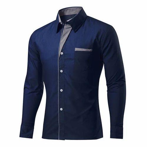 c80e7b120f Satin Navy Blue Mens Party Wear Shirt, Rs 350 /piece, V V Creation ...