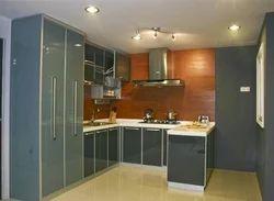 Residential Aluminium Modular Kitchen, Warranty: 1-5 Years