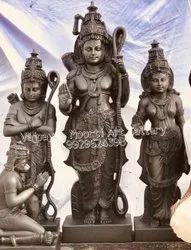 Black Stone Ram Darbar Statue