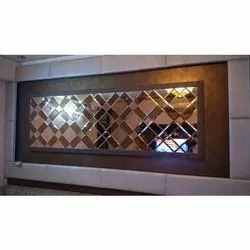 Decorative Wall Glass, Thickness: 10-12 Mm