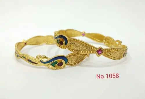 Golden Brass Bangles for Wedding