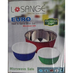 Losange 3pcs Euro Bowl Set Microwave Safe