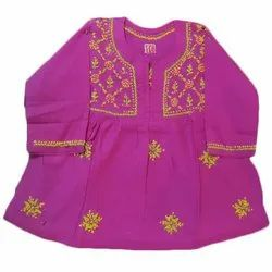 Cotton Printed Kids Designer Frock