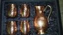 Utensils Round Copper Jug Set, Capacity: 1.5 Ltr, Size: 10""