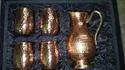 4 Glass and 1 Jug Designer Copper Gift Sets