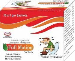 Full Motion Isabgol Laxative Sachets, Packaging Type: Box, Grade Standard: Medicine Grade