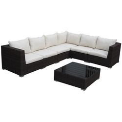 Plain L Shape Sofa Set