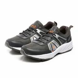 Mens Dark Grey Silver Synthetic Walking Shoes