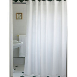 Pro Linen Plain Polyester Shower Curtain Size 78x 72