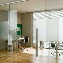 Hinged Frameless Glass Door, For Office