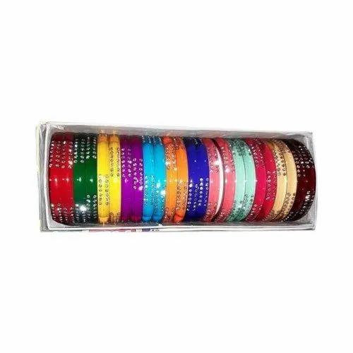 Plastic Round Multicolor Fancy Kundan Bangles
