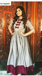 Exclusive Designer Khadi Rayon Western Gown