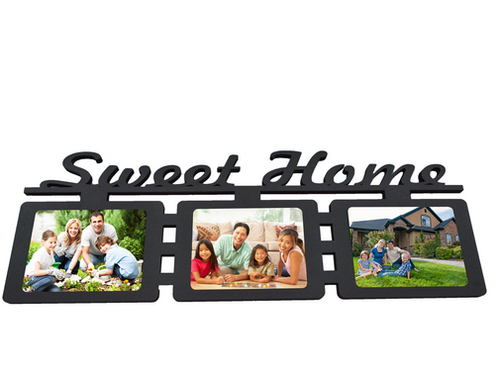 Make Your Own 3 Pictures Sweet Home Collage Wall Frame at Rs 1099 ...