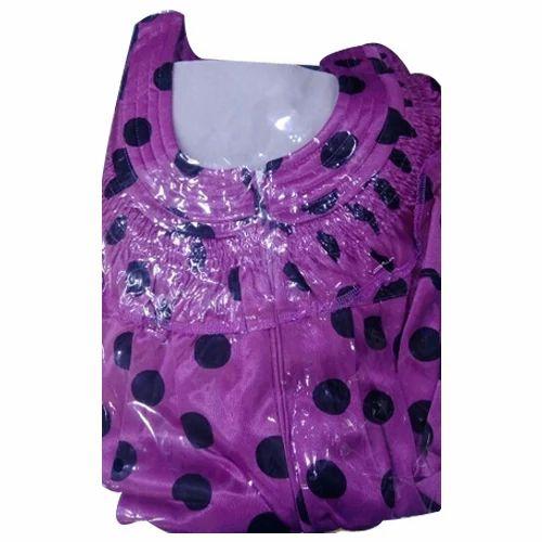 Rayon Printed Zipper Nightgowns a6b2244f2
