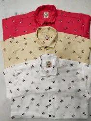 Lia brand Plain checks and printed Mens Casual Shirts