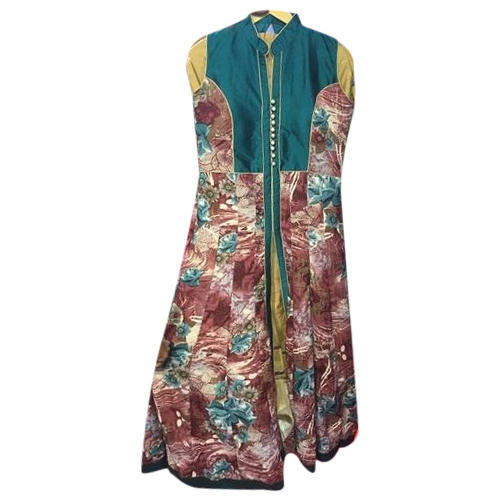 Medium Multicolor Printed Ladies Skirt Suit