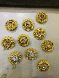 golden sherwani button, Size/Dimension: 40 Line