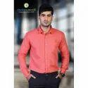 Mens Cotton Collar Neck Plain Shirt, Size: M-2xl